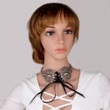 Monili larghi della collana del Choker del collare del legame del nastro del metallo di modo