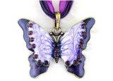 方法合金のラインストーンのLariatの方法宝石類の蝶ネックレス