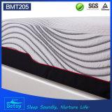 OEM compresa colchón de esponja de 30 cm de alto con espuma de memoria de gel y tejido de punto de cremallera cubierta