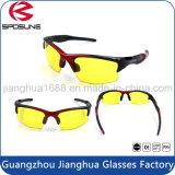 Luz azul da anti radiação que obstrui do voleibol amarelo do tênis da lente dos vidros da visão noturna do olho protetor 400 óculos de sol de escalada de funcionamento UV