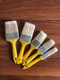 Cepillo de pintura plástico de la maneta con el material mezclado de la cerda de los filamentos del animal doméstico