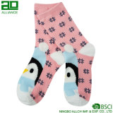 Носки таможни хлопка прелестного пингвина ровные