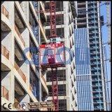 Elevador dobro do canteiro de obras das gaiolas Sc100/100/tirante material