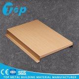 Azulejo G-Shaped impreso nuevo diseño del techo de la tira del grano de madera de aluminio