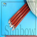 Luvas revestidas da fibra de vidro da borracha de silicone de Sunbow