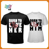 T-shirt en coton à imprimé sérigraphié personnalisé pour hommes