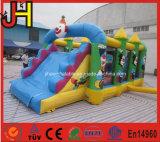子供PVC防水シートの道化師の膨脹可能なコンボの警備員のスライド