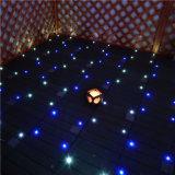 Azulejo de suelo solar al aire libre del Decking del azulejo DIY de la luz que se enclavija WPC