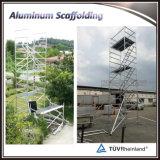 Двойная ширина алюминиевых лесов для мобильных ПК с лестницы
