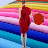 Plain 100%le tissu de polyester pour robe chemisier foulard