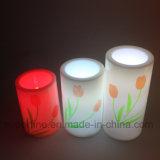 SPA decorativo romántico suave parpadeo LED plástico vela luz con hermosa