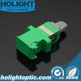 Verde unimodal a una cara del adaptador Sc/APC del obturador con el borde