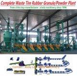 Überschüssiger Schrott-Gummireifen, der Gummipuder-Krume-Zeile Maschinen-Pflanze aufbereitet