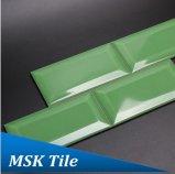 """3X6 """" Groene het Gras polijst de Afgeschuinde Ceramische Verglaasde Tegel van de Metro"""
