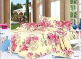 Padrão de flor colorido Microfibra de bambu Plain Dyed Cheap Bed Sheet Set Conjunto de roupa de cama Home Textile