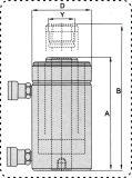 Двойной гидравлический домкрат для скрытых полостей цилиндра Китая по заказу на заводе