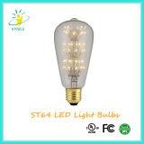 St64 de jaula de ardilla LED filamento bombillas de Navidad luz de la decoración al aire libre