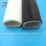 Manicotti Braided del fuoco del tubo flessibile 1650c di protezione della vetroresina a temperatura elevata del silicone