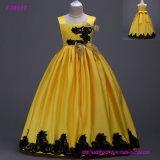 Vestido da menina do vestido das crianças do baile de finalistas do partido do vestido da menina de flor
