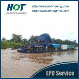 최신 판매 사슬 물통 강 모래 준설선 또는 금 준설기