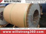 les graines en bois de 0.3mm ont enduit la bobine d'une première couche de peinture en aluminium