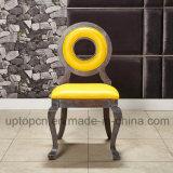 خشبيّة [لوويس] مطعم أثاث لازم كرسي تثبيت مع دائرة مجوّف ونجادة ساطع أصفر ([سب-ك873])