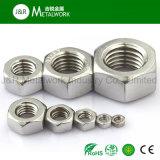 Noix Hex DIN934 d'hexagone d'acier inoxydable de solides solubles SS304 Ss316 Ss321