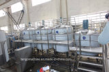 Linha de produção de empacotamento de engarrafamento de engarrafamento do equipamento da máquina de enchimento da bebida automática do suco do frasco do animal de estimação com completamente suco Preapre e sistema do Sterilizer