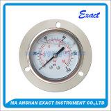 모든 Ss 압력계 액체에 의하여 채워지는 압력 측정하 정면 플랜지 및 U 죔쇠