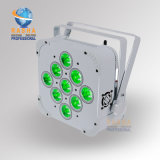 La batería de la alta calidad 13200mAh de Rasha para la IGUALDAD plana con pilas ULTRAVIOLETA de la radio LED de V9 6in1 Rgabw puede efectuar la luz de la IGUALDAD