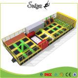 Дешевые прямоугольник батут Органом здание батут с пеной яму для детей