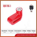 Jq8706-1赤いカラー安全普及した自転車ロックのオートバイのディスクロック
