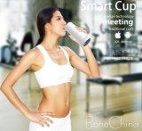 Copa control inteligente de Bluetooth con China material óseo para bebida saludable