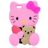Venta caliente perrito rosado del teléfono móvil de la caja del silicio