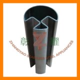 304, tubo scanalato rotondo dell'acciaio inossidabile 316 con 90 gradi