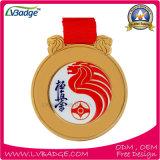 リボンの印刷を用いる亜鉛合金のカスタムメダルあなた自身のロゴ