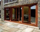 Porte coulissante Alu-Wood avec stores automatiques ou manuels intégrés