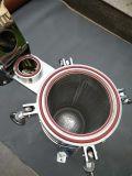Alloggiamento personalizzato industriale del filtro a sacco dell'entrata della parte superiore di filtrazione dell'acqua dell'acciaio inossidabile