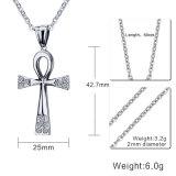 Диаманта нержавеющей стали способа ювелирные изделия ожерелья Amkha Titanium вероисповедного перекрестные привесные