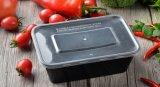 Пластиковый 2 отсека микроволновой кухонных продовольственной контейнер с крышкой