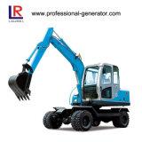 Alta calidad excavadora de ruedas 48kW 45kn