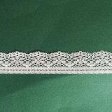 Кремовый спицы растянуть фрезерование кружева текстильный материал, закрывающий шнуровку