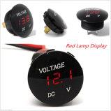 LED azul/rojo/verde del contador impermeable del voltaje del voltímetro universal del indicador digital para el voltímetro auto del carro de la motocicleta del coche de la C.C. 12V-24V