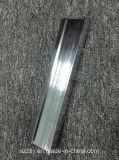 El aluminio de plata anodizado brillante 6063 6061 sacó perfil
