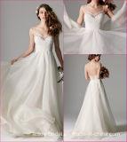 Spaghetti robes de mariée robe de mariée robe de mariage de la plage de dentelle YA8113