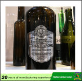 Kundenspezifisches Aluminium prägte Flaschen-Kennsatz-Wein-Flaschen-Metallkennsatz