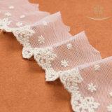 Ajuste soluble en agua 100% del cordón de la tela del cordón del algodón de la manera L30015