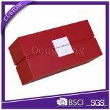 Boîte en carton rigide à extrémité élevé de rectangle avec le guichet