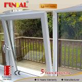 Inclinazione dell'alluminio domestico e girata interne Windows/finestra di alluminio di legno di rivestimento di grano