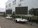 Panneau variable d'affichage vidéo des VMs P10 DEL monté par remorque polychrome de la publicité extérieure